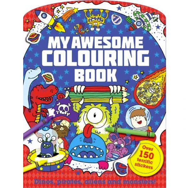 My Awesome Colouring Book with Stickers