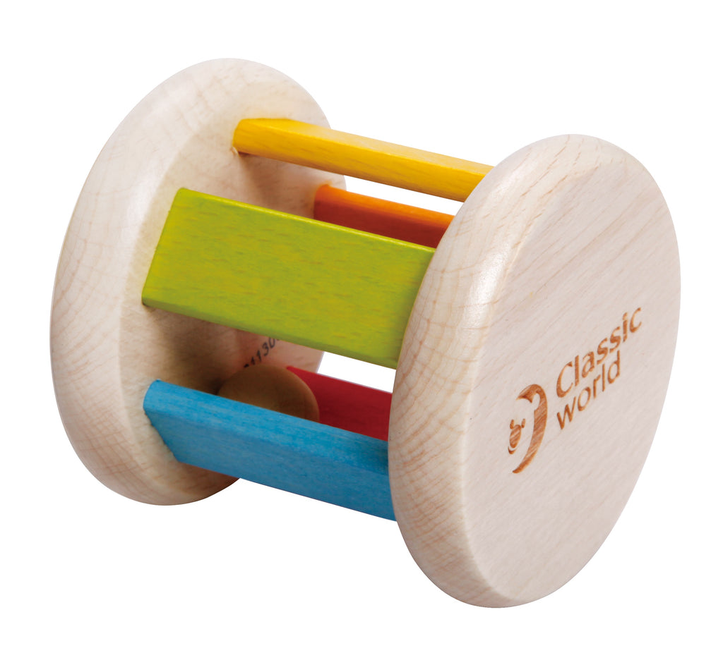 Classic World | Wooden Roller Rattle