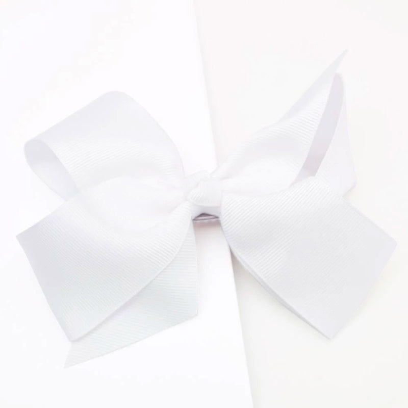 Lauren Hinkley | Large Bow Clip - White