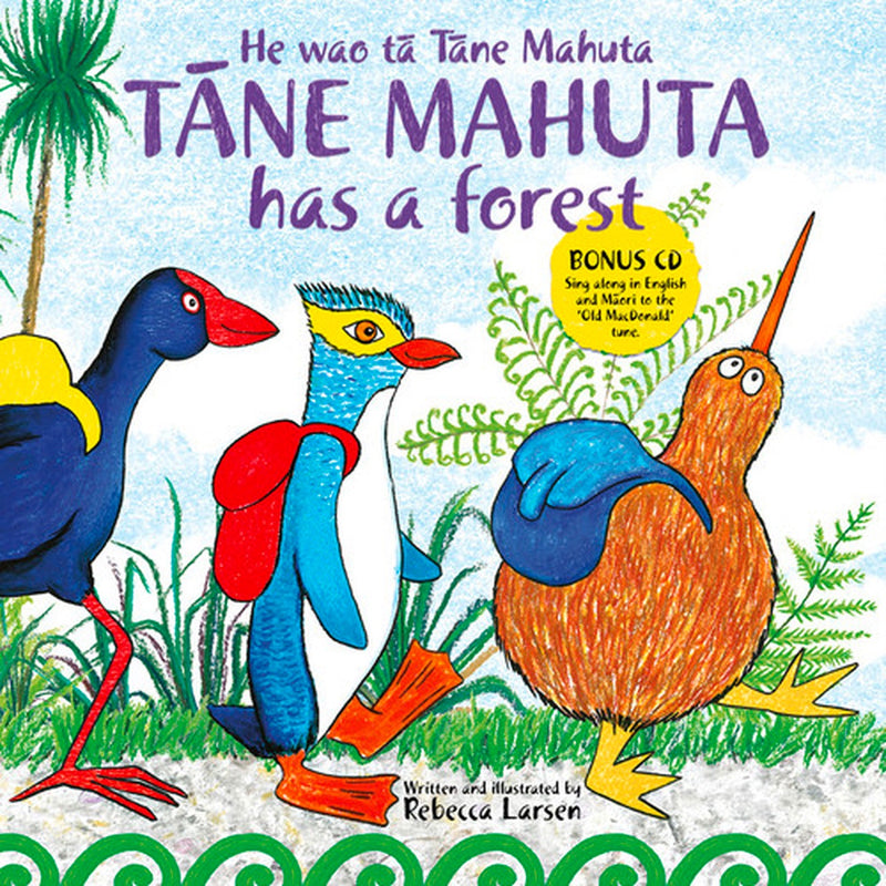 Te Reo Childrens Book | Tane Mahuta Has A Forest - With Bonus CD