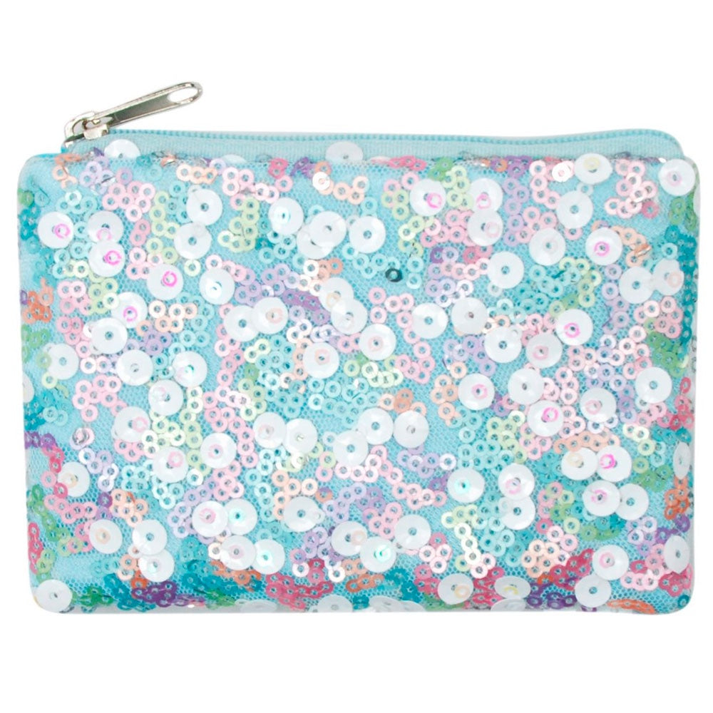 Pink Poppy | Fairy Sequin Coin Purse - Blue