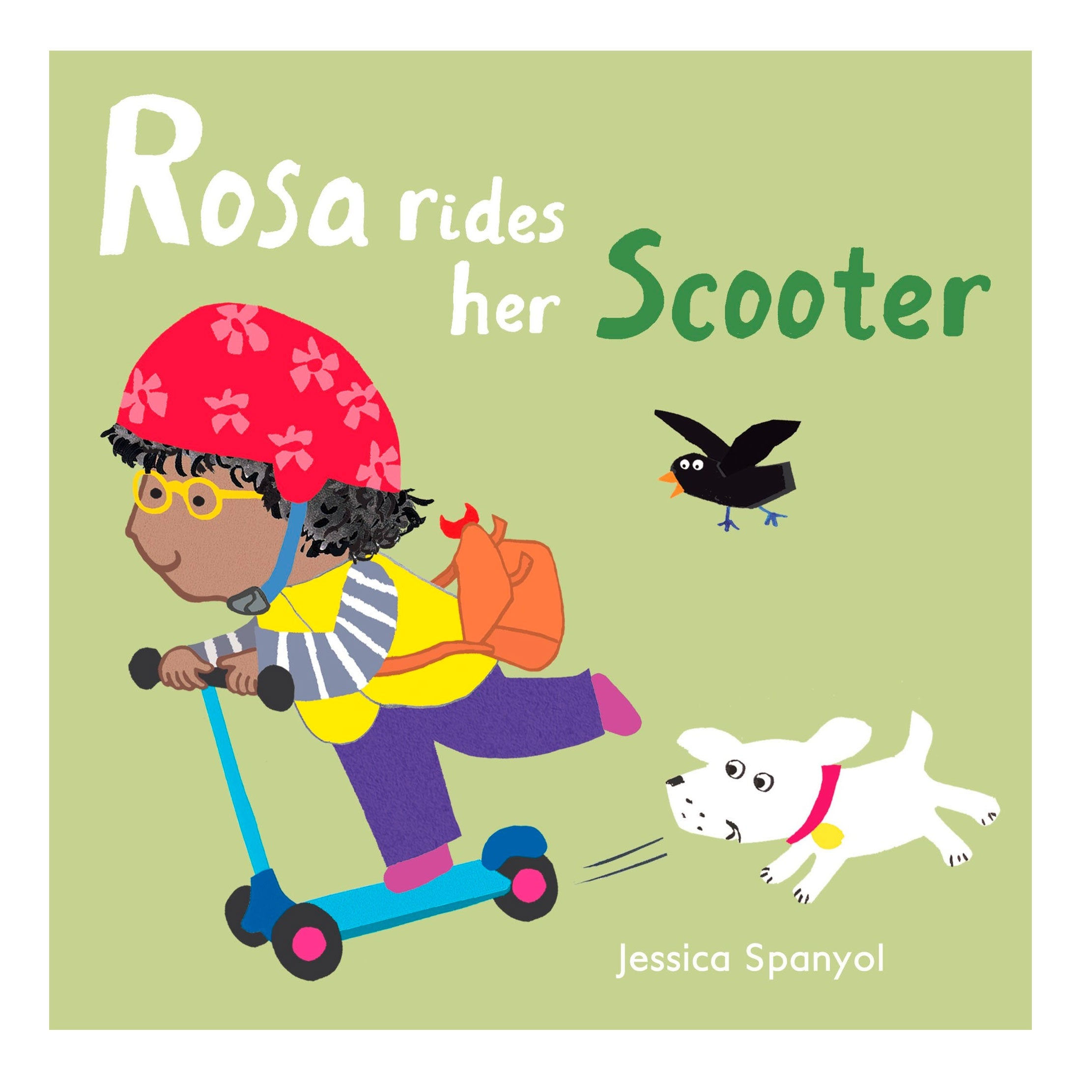 Rosa rides her Scooter