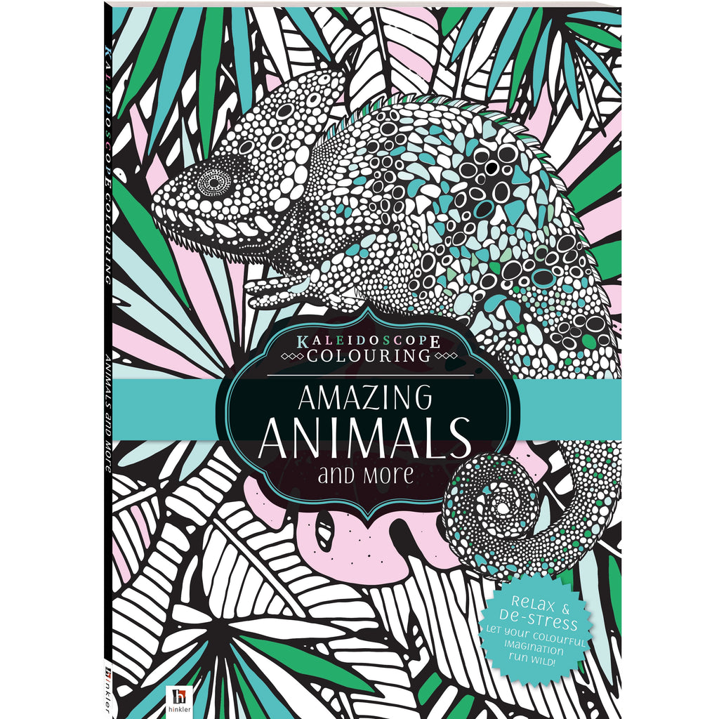 Hinkler | Kaleidoscope Colouring - Amazing Animals And More
