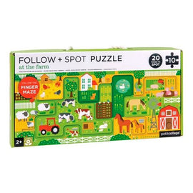 Petit Collage | Follow & Spot Puzzle - At The Farm