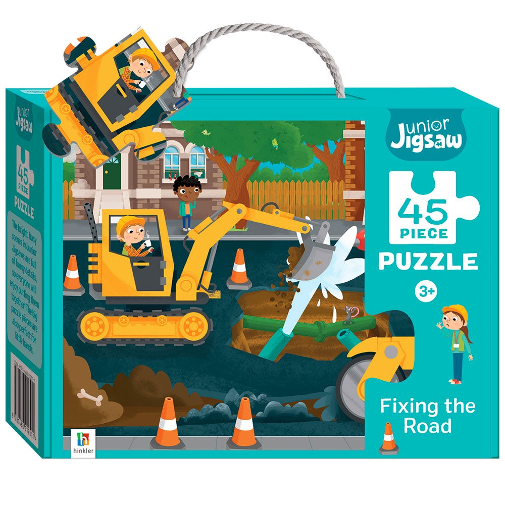 Hinkler | 45 Piece Puzzle - Fixing the Road