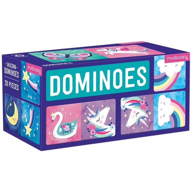 Mudpuppy | Dominoes - Unicorn