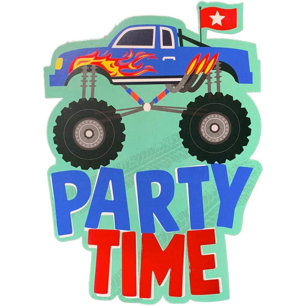 Birthday Invitations | Monster Truck Cutout