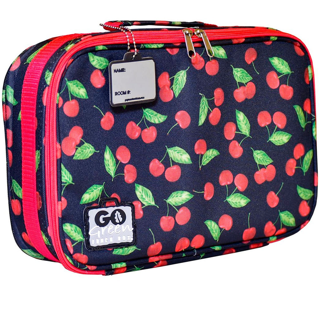 Go Green | Insulated Lunch Bag - Cherries Jubilee