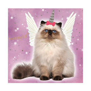 Birthday Card | Animal Antics Cat Unicorn