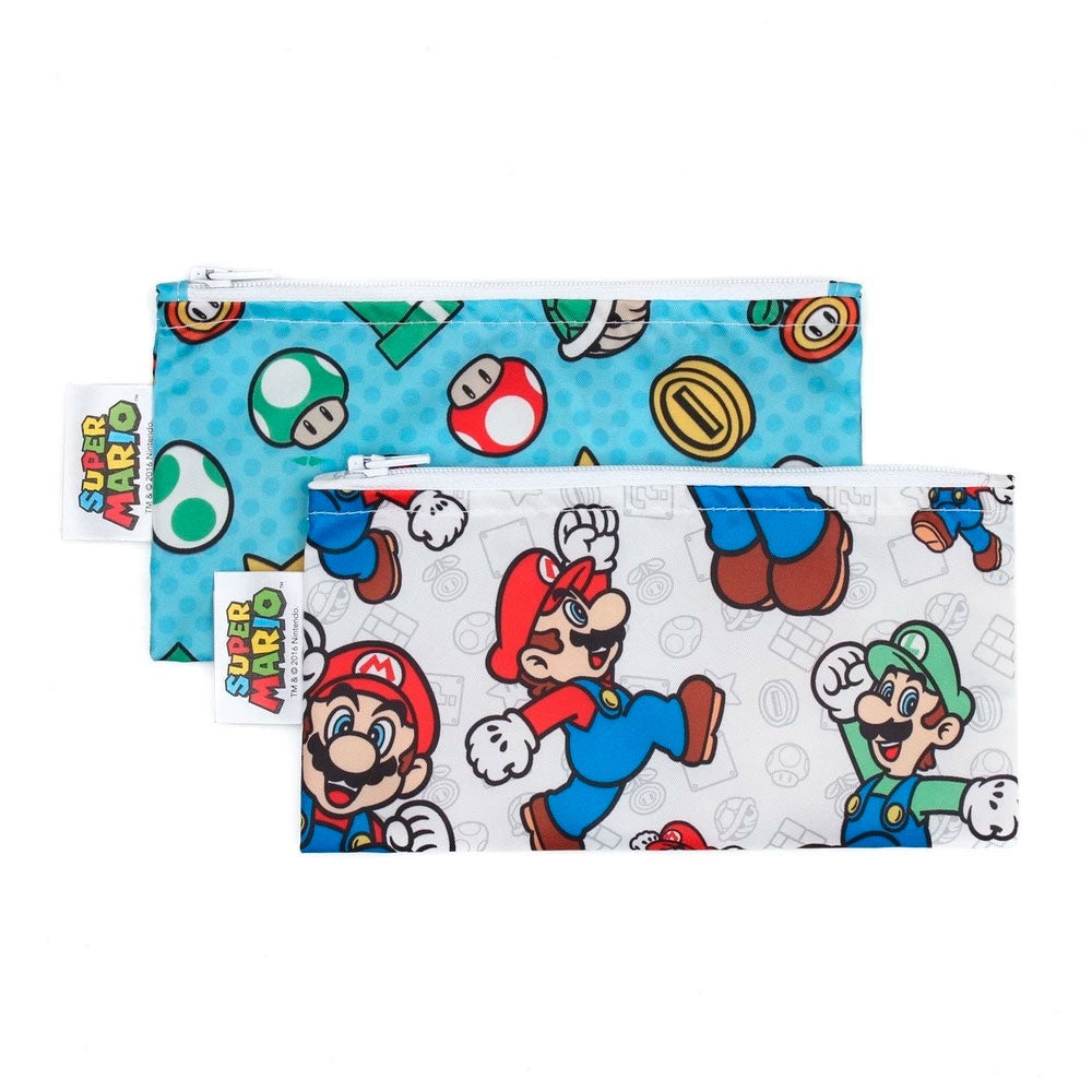 Bumkins | Small Snack Bag 2 Pack - Super Mario