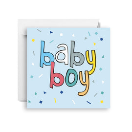 Birthday Card | Baby Boy - Confetti