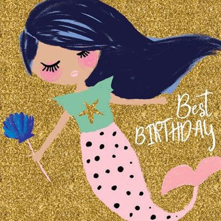Birthday Card | Mermaid Best Birthday