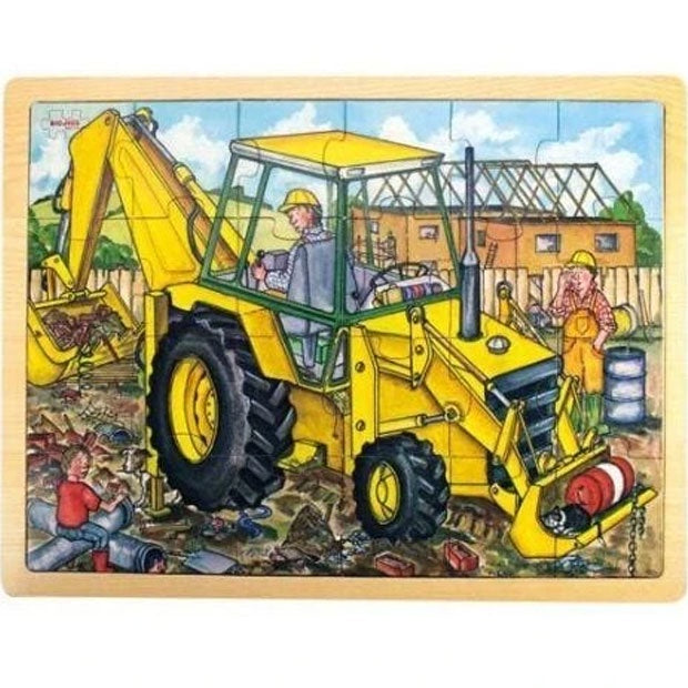 Big Jigs | 24 Piece Wooden Puzzle Tray - Digger