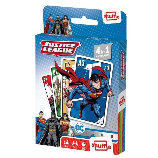 Shuffle | 4 in 1 Card Game - Justice League