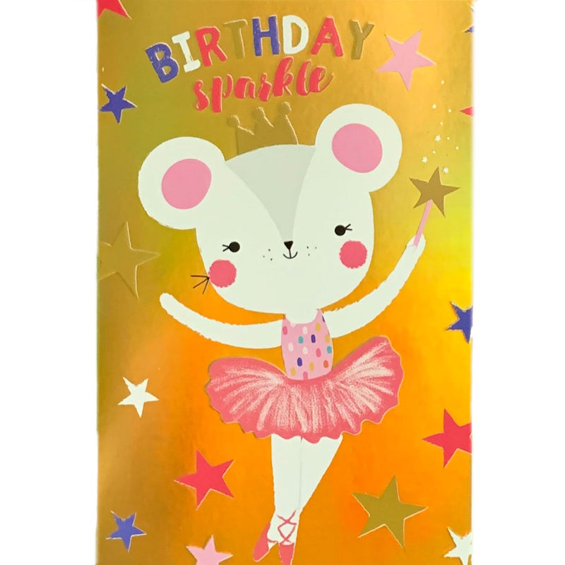 Birthday Card | Birthday Bear Ballerina Sparkle