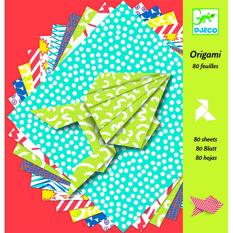 Djeco | Origami Paper - 80 Sheets