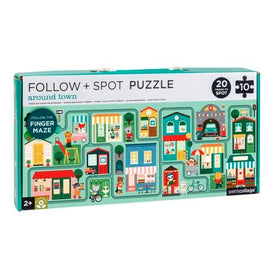 Petit Collage | Follow & Spot Puzzle - Around Town