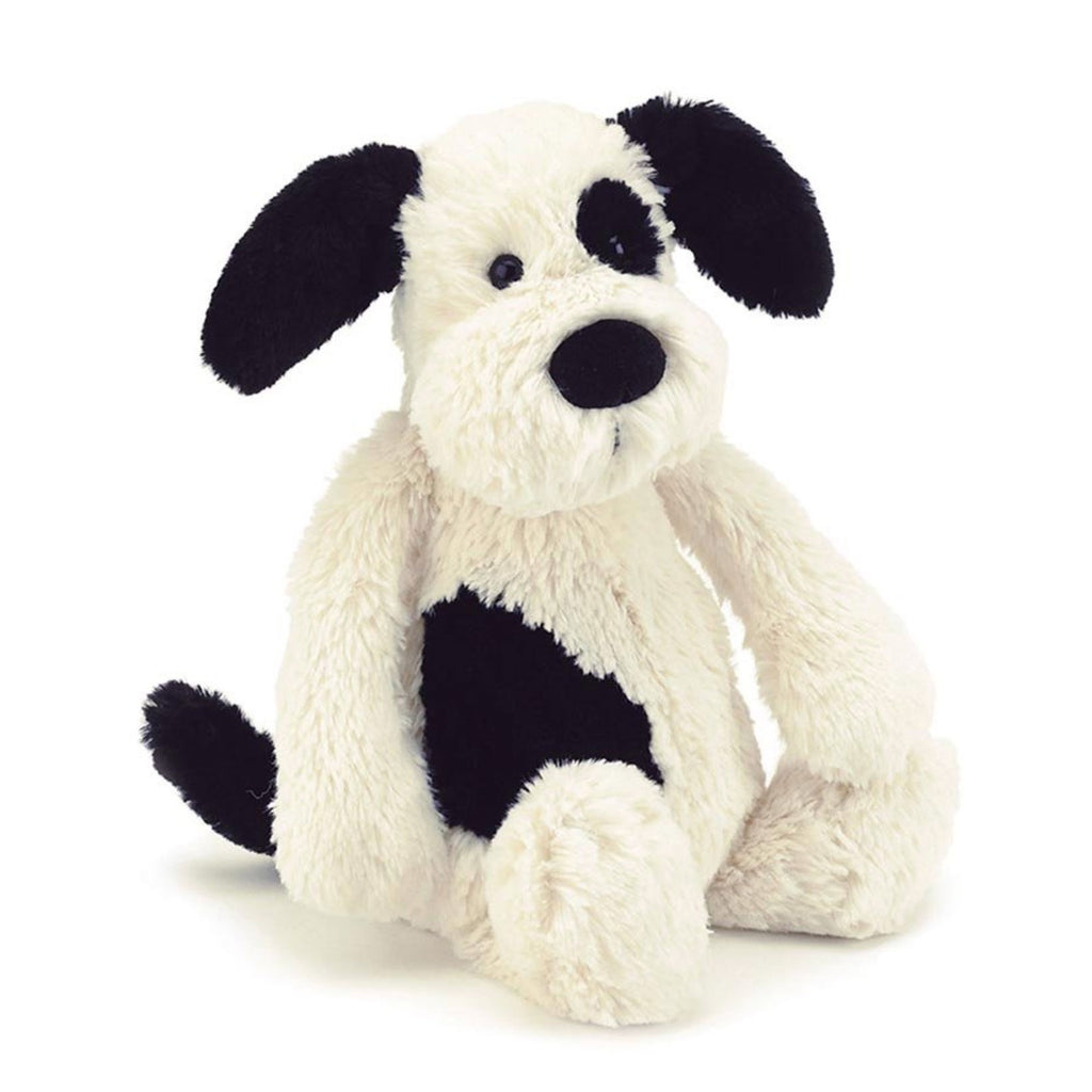 Jellycat | Bashful Black & Cream Puppy - Medium
