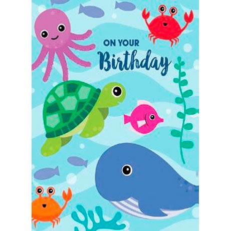 Birthday Card | On Your Birthday - Ocean Friends