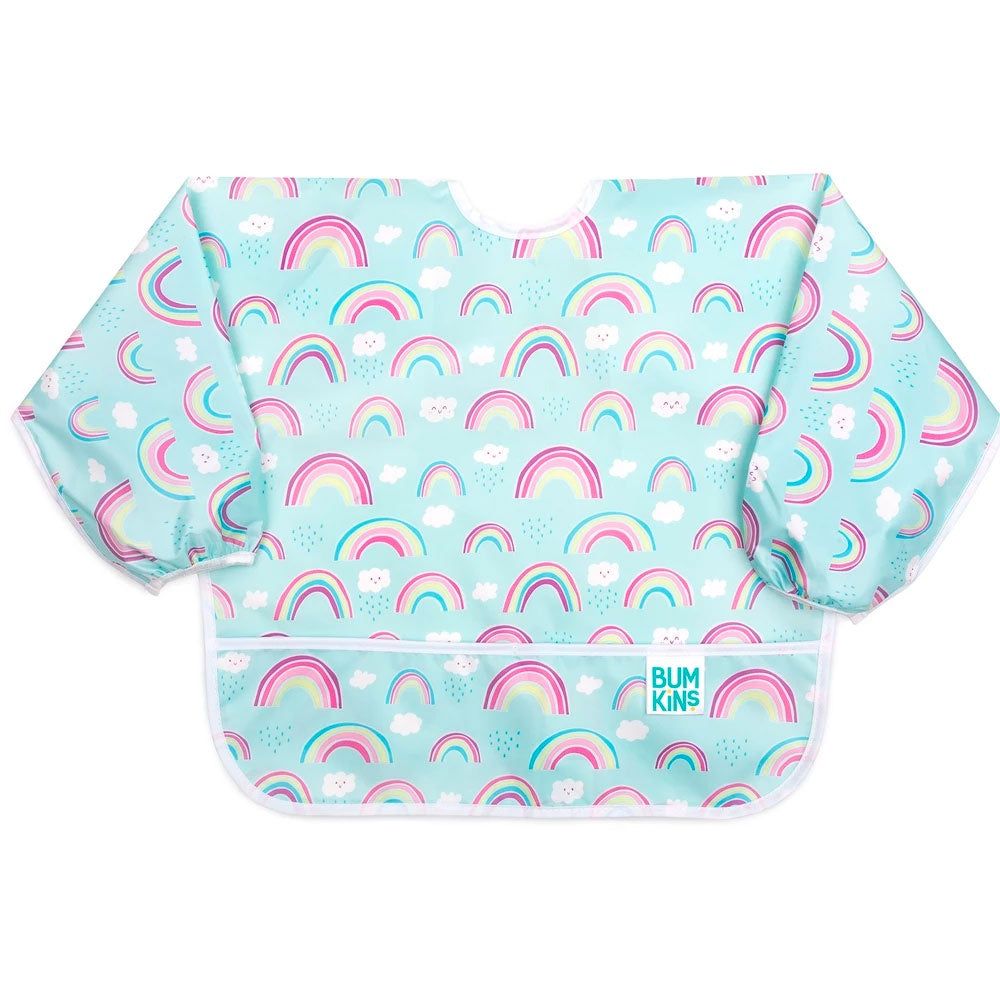 Bumkins | Sleeved Bib - Rainbows