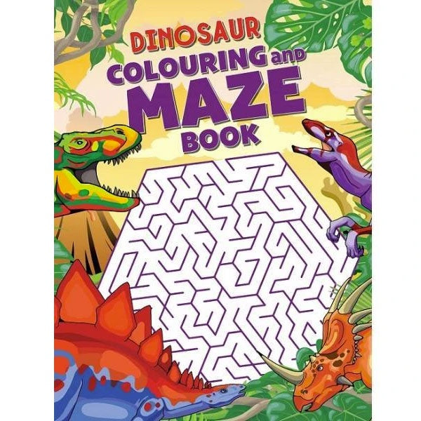 Dinosaur Colouring and Maze Book