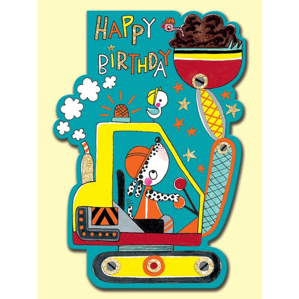 Rachel Ellen | Happy Birthday Digger Birthday Card