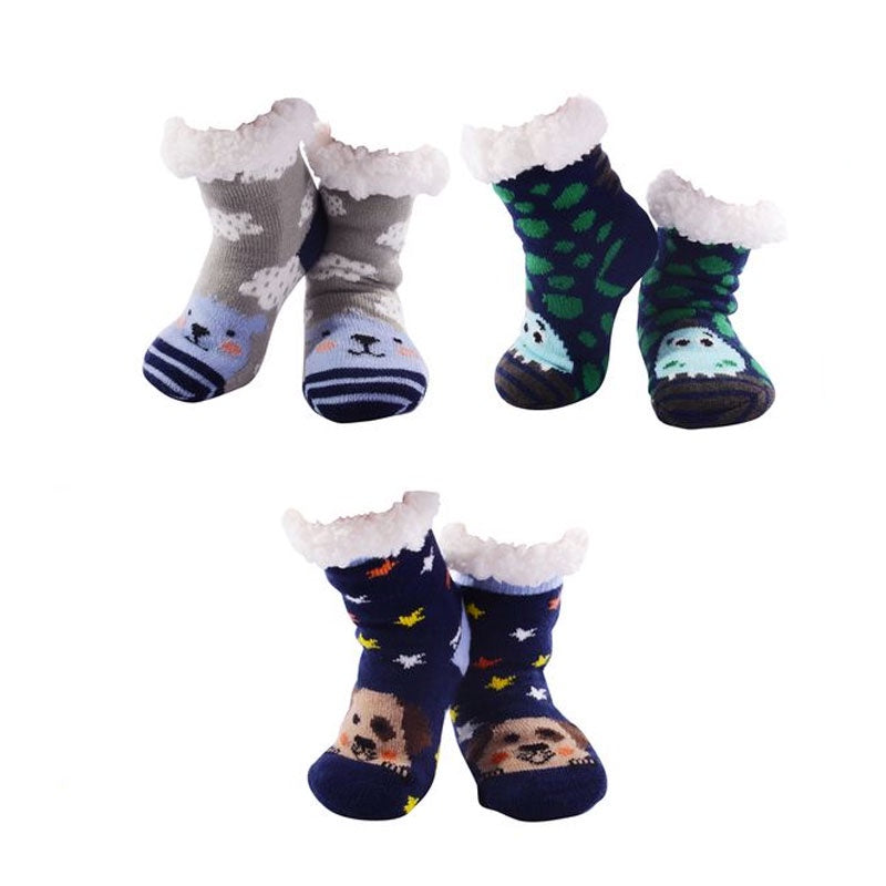 Nuzzles | Sherpa Socks - Kids Animals