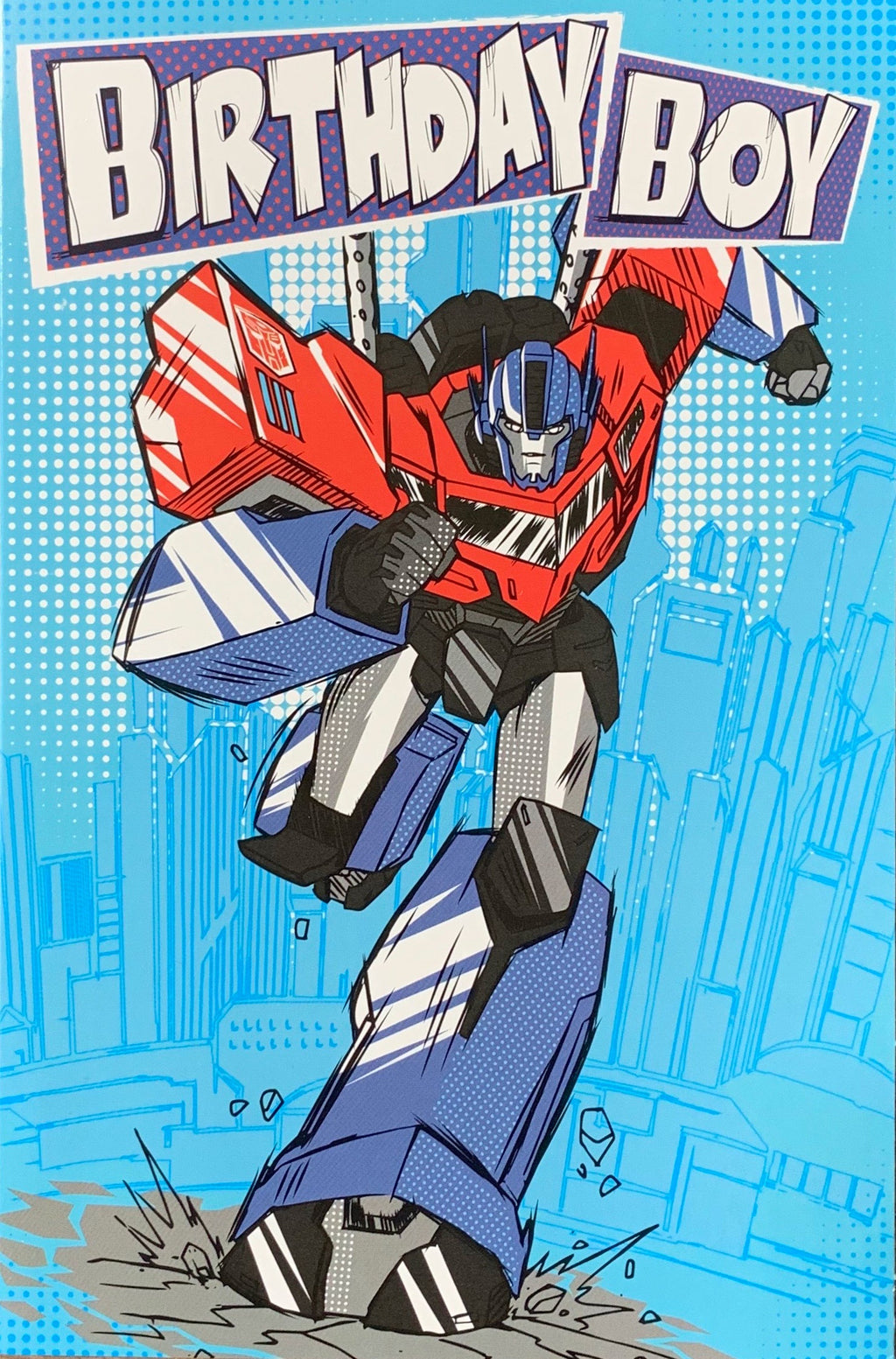 Birthday Card | Transformers Birthday Boy