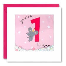 James Ellis | Birthday Cards You're 1 Today - Mouse