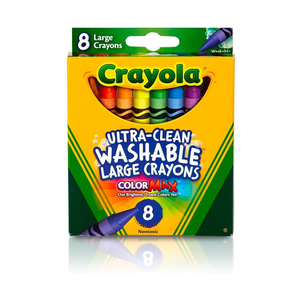 Crayola | Ultra Clean Washable Large Crayons - 8 Pack