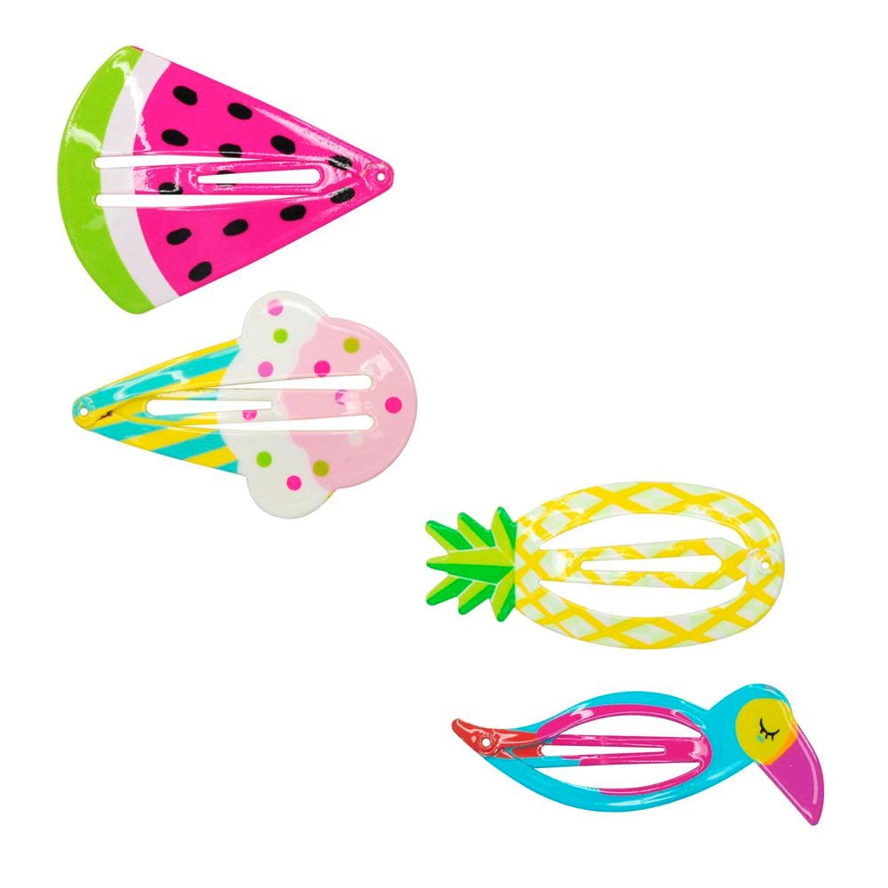 Pink Poppy | Summer Fun Shapes Hair Clips