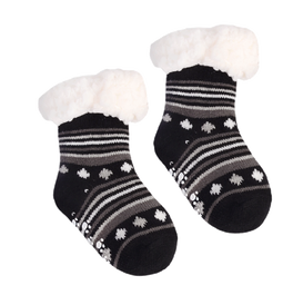 Nuzzles | Sherpa Socks - Baby Stripes