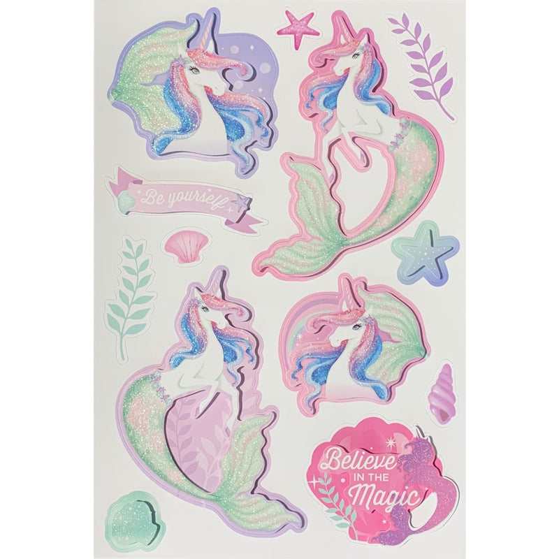 Paper Craft | Glitter Stickers - Mermicorn