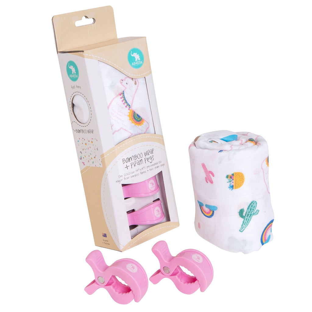 All 4 Ella | Bamboo and 2 Pram Peg Box Set - Alpaca