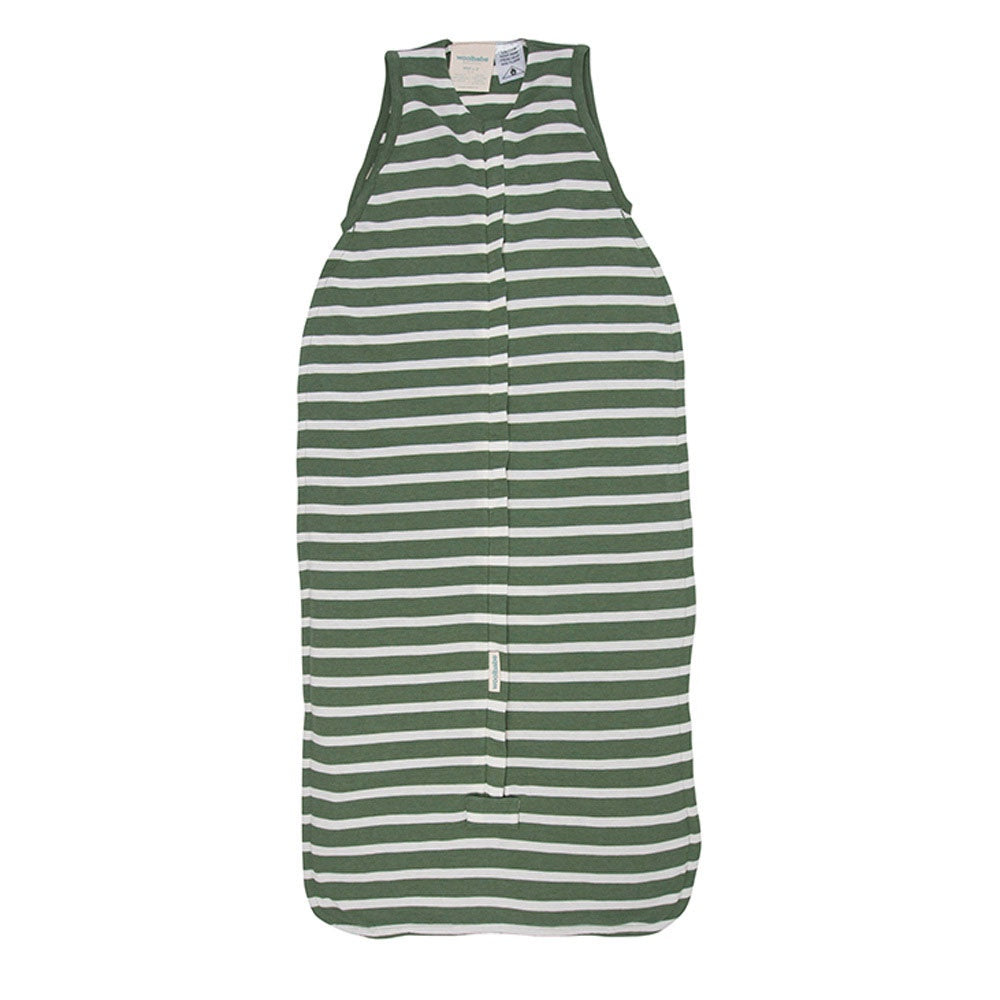 Woolbabe | 3-Seasons Front Zip Sleeping Bag - Fern Stripe *3-24mth