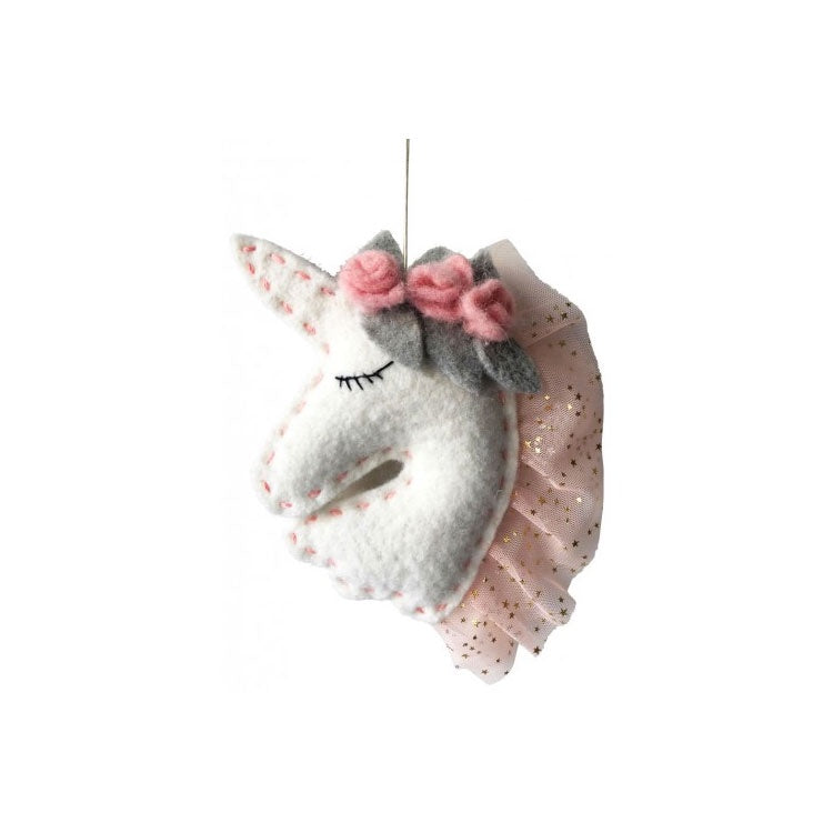 Urban Products | Hanging Felt Unicorn Head 19cm
