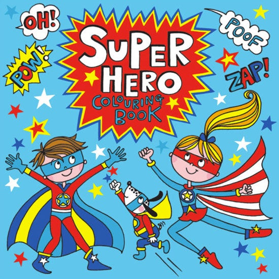 Rachel Ellen Designs | Super Hero Colouring Book