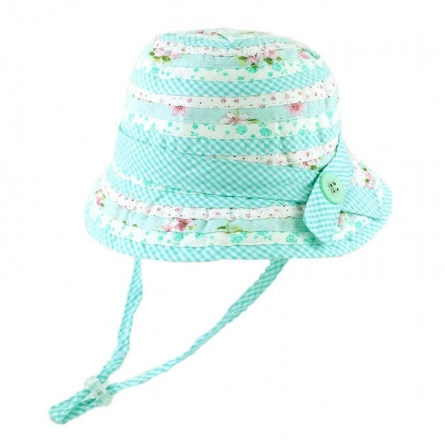 Millymook | Baby Girls Bell Hat - Patchwork Mint
