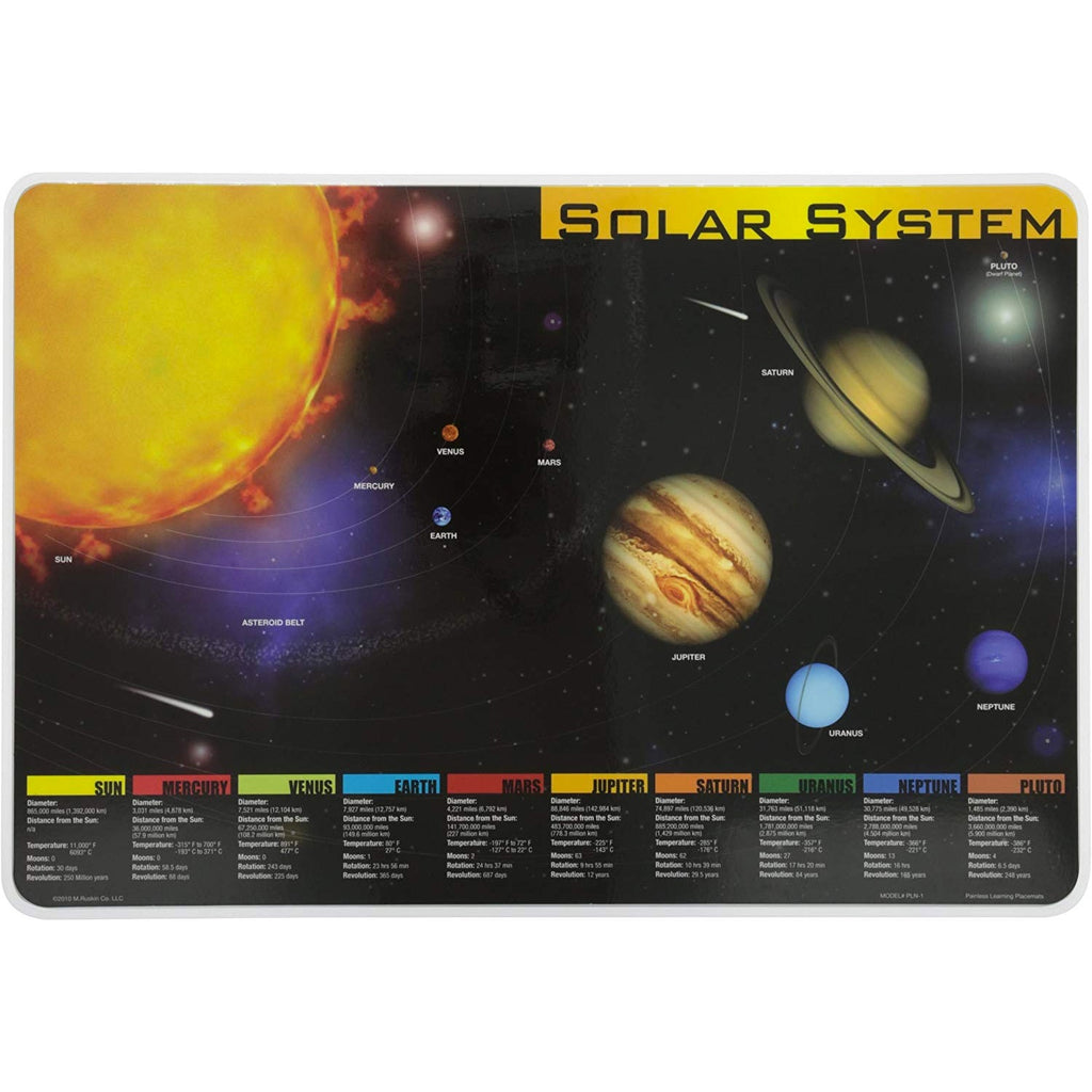 Learning Placemats | Solar System