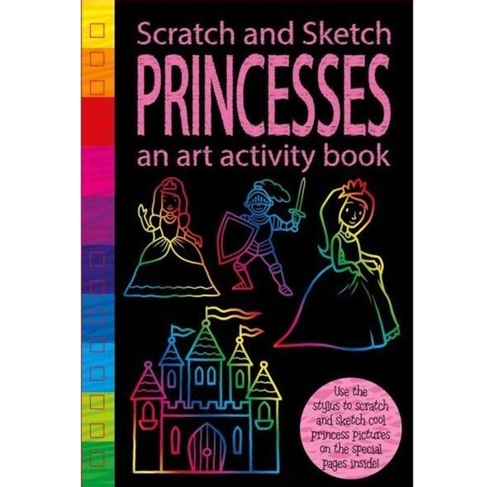 Scratch and Sketch Art Activity Book - Princess