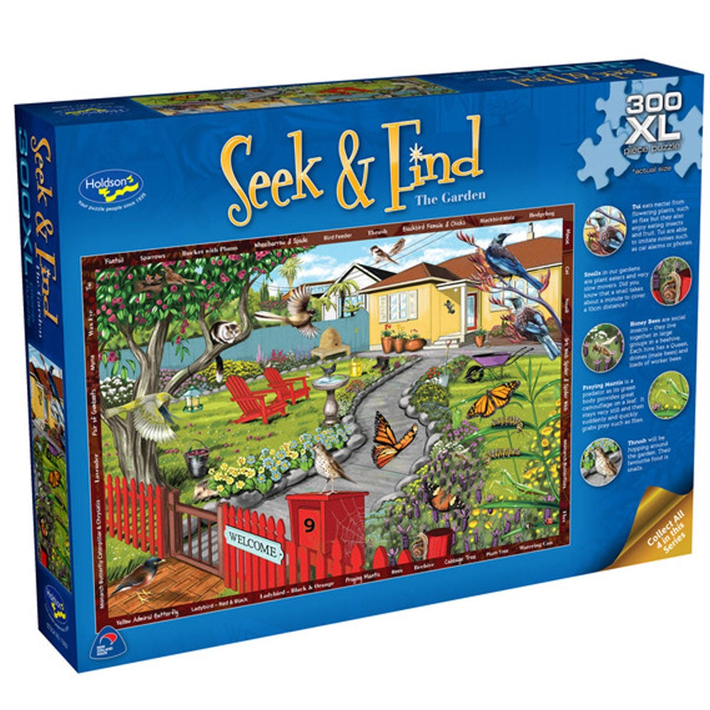 Holdson | Seek & Find 300 XL Piece Puzzle - The Garden