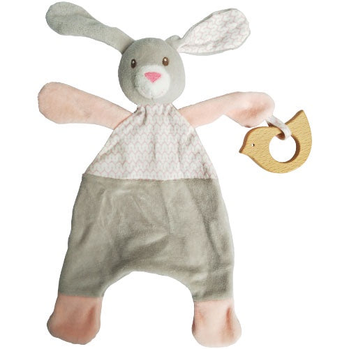 Urban Junior | Pink Bunny Comforter / Teether