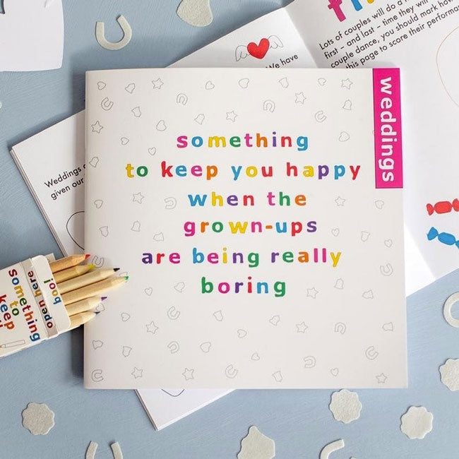 Something To Keep You Happy Book with Pencils - Weddings