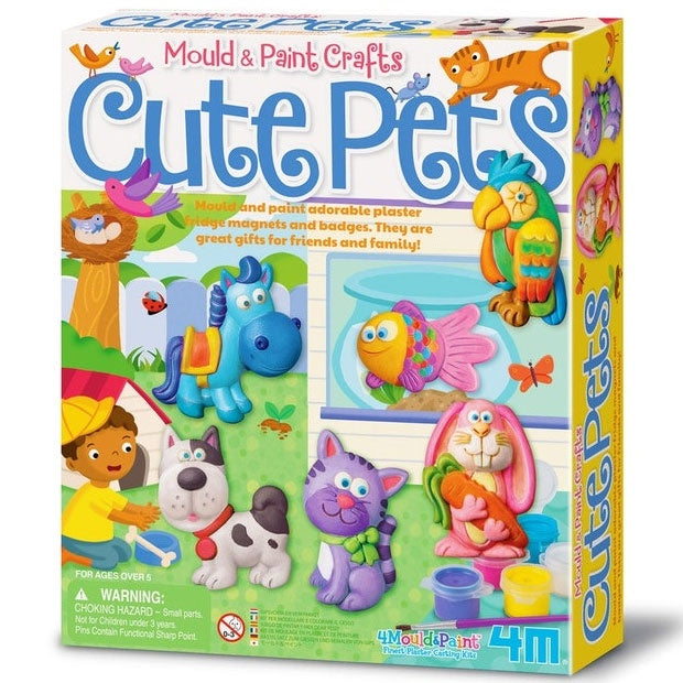 4M | Mould and Paint Crafts - Cute Pets