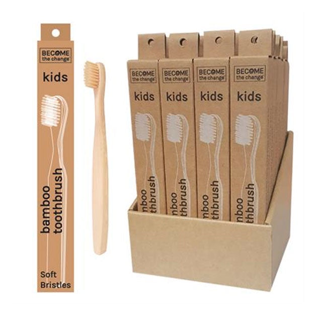 Become The Change | Kid's Bamboo Toothbrush