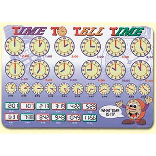 Learning Placemats | Time To Tell Time