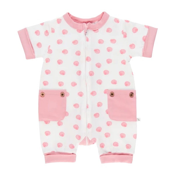 Li'l Zippers | Short Romper - Pink Shell
