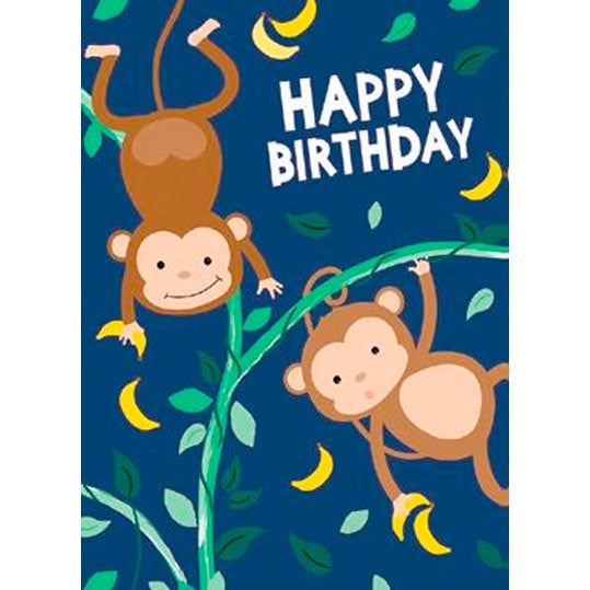 Birthday Card | Happy Birthday Monkeys