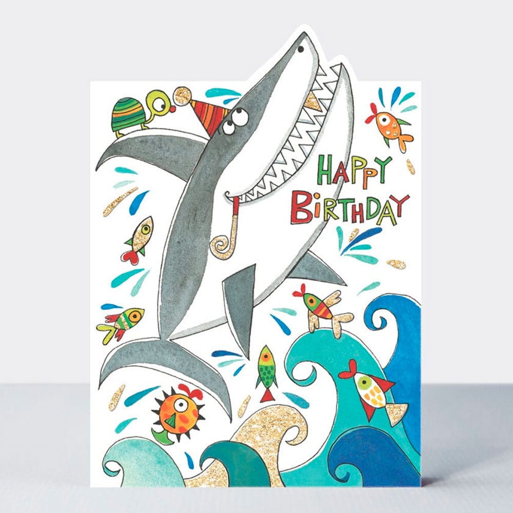 Rachel Allen Designs | Birthday Cards - Shark
