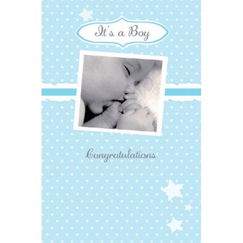New Baby Card | Baby Boy Sleeping Baby